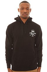 Crooks and Castles Wreath Hood Pullover in Black