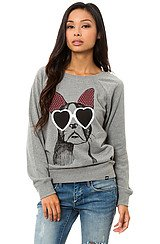 Vans Fugitive Dog Crewneck in Grey Heather