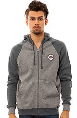 RVCA Oldtime Zip Hoody in Grey Noise
