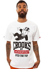 Crooks and Castles Over the Top Tee in White