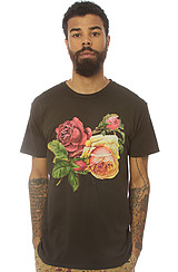 Obey Bed of Roses Thrift Tee in Graphite
