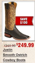 Justin Smooth Ostrich Cowboy Boots