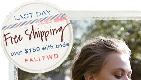 Last day for free shipping.