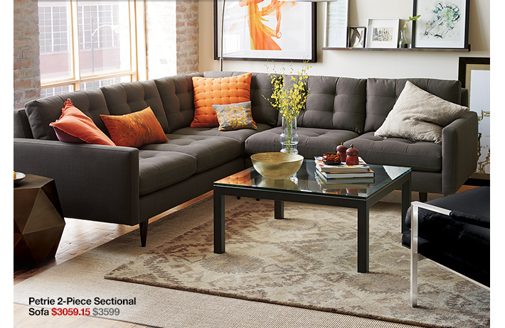 Petrie 2-Piece Sectional Sofa $3059.15  $3599