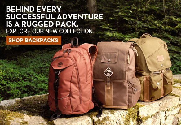 Behind every successful adventure is a rugged pack. Explore our new collection. Shop Backpacks.