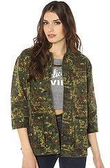 Burton Harvey Military Jacket in Camo