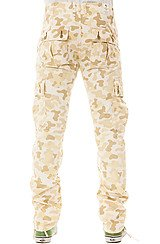 LRG Panda Camo SS Cargo Pants in Cream Camo