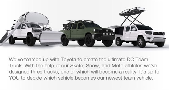 We've teamed up with Toyota to create the ultimate DC Team Truck.