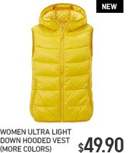 WOMEN ULD HOODED VEST