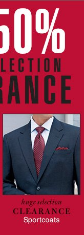 Clearance Sportcoats - Reduced 50%