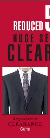 Clearance Suits - Reduced 50%
