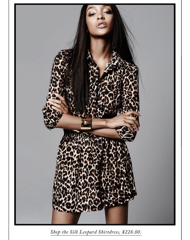 Shop the Silk Leopard Shirtdress, $228.00.
