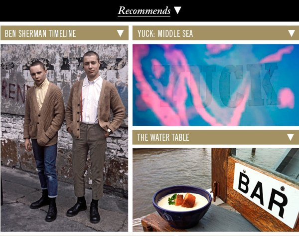 Ben Sherman Timeline | Yuck: Middle Sea | The Water Table
