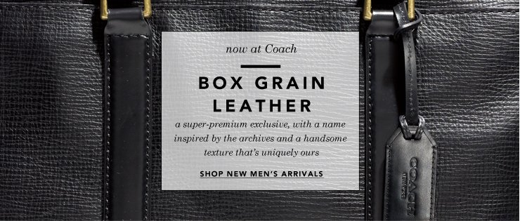 box grained leather