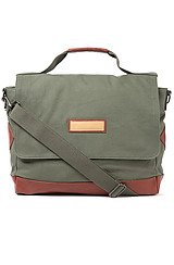 The Don't Shoot the Messenger Bag in Military Green