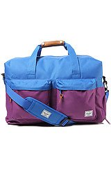 The Walton Duffle Bag in Purple & Cobalt