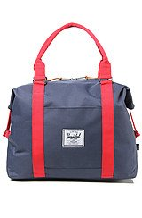 The Strand Duffle Bag in Navy & Red
