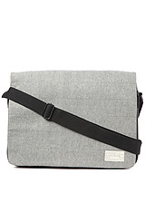 The Laptop Messenger Bag in Grey Denim