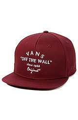 The Bogard Snapback Hat in Brick Maroon