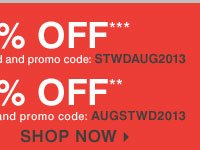 AUGUST STOREWIDE SALE - EXTRA 25% OFF*** with a YOUR REWARDS credit card OR EXTRA 20% OFF** with any other form of payment. Shop now.