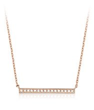 Vi Necklace rose gold plated
