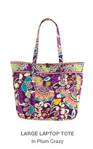 Large Laptop Tote in Plum Crazy
