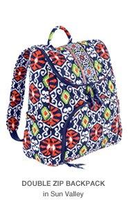 Double Zip Backpack in Sun Valley