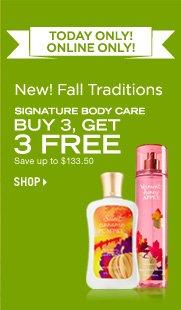 Signature Body Care – Buy 3, Get 3 Free