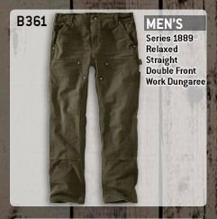 Men's Series 1889 Relaxed Fit Straight Leg Double Front Work Dungaree