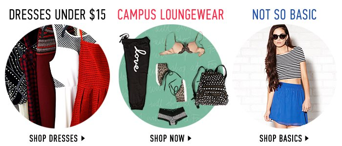 Dresses Under $15 / Campus Loungewear / Not So Basic - Shop Now