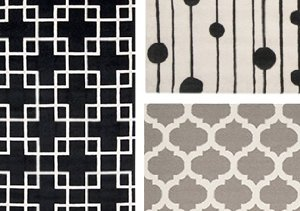 Black, White & Grey Graphic Rugs