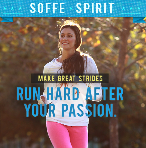Soffe Sprint. Run hard after your passion.