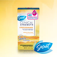 Don't worry about stress sweat - we've got you covered with Secret Clinical Strength Stress Response!