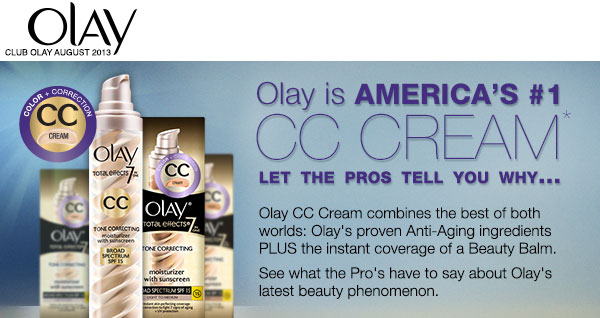 Olay CC Cream combines the best of both worlds: Olay's proven Anti-Aging ingredients PLUS the instant coverage of a Beauty Balm. See what the Pro's have to say about Olay's latest beauty phenomenon.