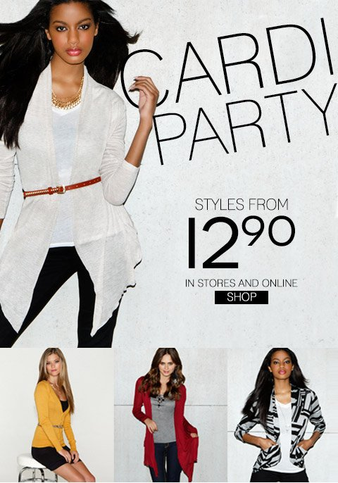 Cardi Party! Shop styles from $12.90