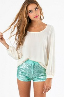SEQUIN DERBY SHORTS 42