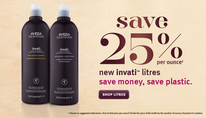 save 25% per ounce new invati litres. shop litres