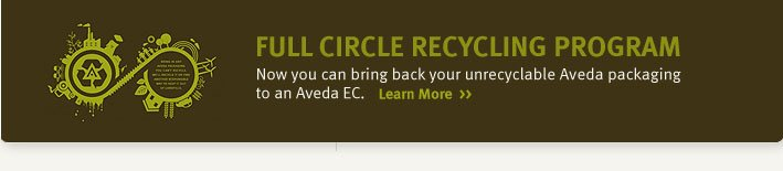 full circle recycling program. learn more.