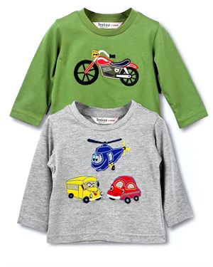 Beebay Pack Of Two 100% Cotton Boy's Long-Sleeved Shirt