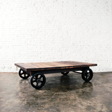 Handcar Coffee Table // Reclaimed Wood