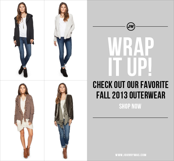 Wrap it up! Shop JW Outerwear!