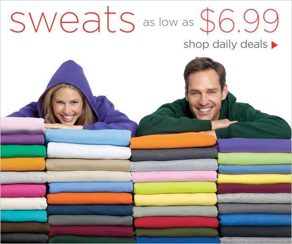 Sweats as low as $6.99