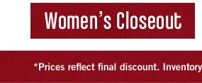 Shop Women's Closeout