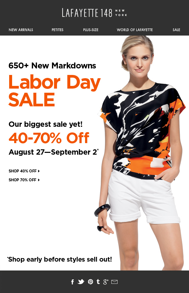 650+ Markdowns—Shop Labor Day Sale Early!