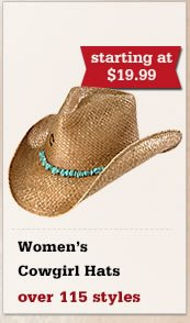 All Womens Cowgirl Hats on Sale