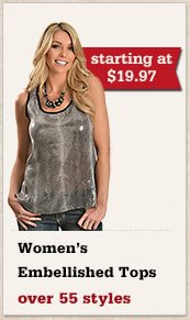 All Womens Embellished Tops on Sale