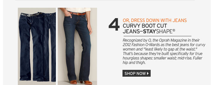 Curvy Boot Cut Jeans - StayShape®