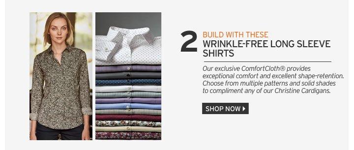 Wrinkle-Free Long Sleeve Shirts