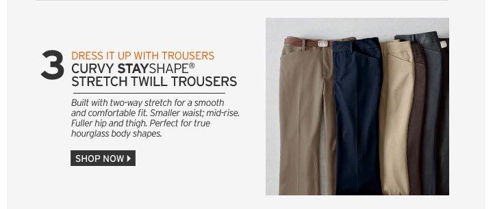 Curvy StayShape® Stretch Twill Trousers