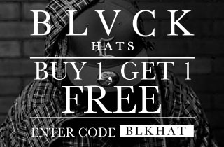 BLVCK Hats Buy 1, Get 1 Free.